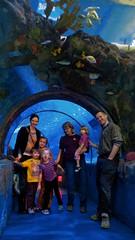 P1100753 (150hp) Tags: young boy xavier girl sydney family cute happy mom amanda uncle mike grandma patty mary jane emmy sue sea life minnesota aquarium mall america minneapolis mn panasonic lx3