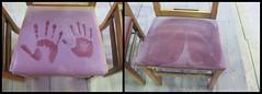 handwerk en achterwerk (emmapatsie) Tags: kerkstoel stof stoel mechelen begijnhofkerk