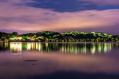 Night view of West Lake (Jixin YU) Tags: viewing night natural landscape nature fish leaf outdoor lake hangzhou light garden westlake plant water excursion g20 travel tree tourism teahouse beautiful green pond rain lotus flower
