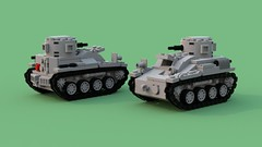 early Type 94 tankette_ 7 wide_LtBrick (Florida Shoooter) Tags: type94tankette ww2 japanese tankette ldd bluerender