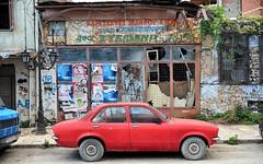 Kadett C (Perfect Gnat) Tags: ioannina epirus greece car street old vintage sign city decay pinocchio opel kadett
