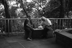 playing Chinese chess (liyangzao) Tags: chinese chess film fe d76 50mm bw street chongqing china nikkor nikon nikonfe epson epson4490 efke kb100