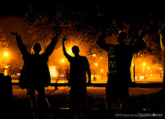 La Crosse Moontunes Fireworks (Kristie 2013) Tags: lacrosse lacrossewi fireworks moontunes light paintingwithlight silhouettes fun riverside park nighttime after dark