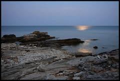 LAST MOON-NIGHT SWIM (LitterART) Tags: istrien cove bucht meer sea fujinonxf27mm fujifilm moon mond mondlicht mondnacht swim istria croatia kroatien