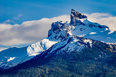 The Black Tusk (martincarlisle) Tags: blacktusk garibaldiprovincialpark britishcolumbia canada callaghanvalley seatoskyhighway highway99 squamish whistler provincialparks parks mountains volcanos glaciers snow ice trees sky cloud captureonepro9 niksoftware colourefex