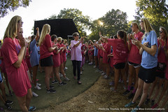 Week in Photos - 31 (Ole Miss - University of Mississippi) Tags: 2016 ctg0427 carewalk panhellenic greeklife sorority students walk greek grove grovestage cancer cancersurvivor baptistmemorialhospital smiling waving oxford ms usa