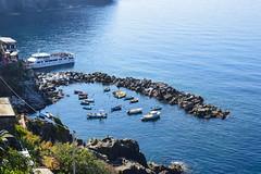 (ola_alexeeva) Tags: italy terre 5      cinque september sun  liguria  mountains sea seaside   riomaggore  harbor port boats riomaggiore