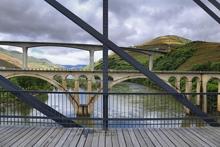 IP3 bridge soars above the river valley and previous bridges