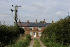 Approaching New Row (Walruscharmer) Tags: bridleway greenlane farmtrack marstonroad terracedhouses cottages valeofyork northyorkshire yorkshire england