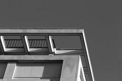 on the corner (mjwpix) Tags: onthecorner heals architecture monochrome angular michaeljohnwhite mjwpix ef135mmf2lusm railing