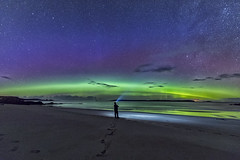 North Coast Aurora (bradders29) Tags: aurora durness scotland northernlights beach sea highlands stars night