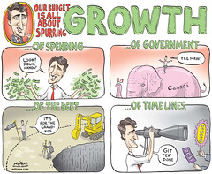 Thursday March 24, 2016 (bruceslayton) Tags: editorialcartoon canada justintrudeau billmorneau growth economy budget debt spending government bluejewpolitics beaccountable californiacashchaosm heybigspender hbs holybullshit