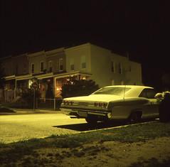 (Josh Sinn) Tags: street longexposure color chevrolet 120 6x6 film car mediumformat md kodak tripod maryland slide baltimore neighborhood chevy vehicle parked e6 hampden yashicamat124g cablerelease e100g joshsinn joshuasinn