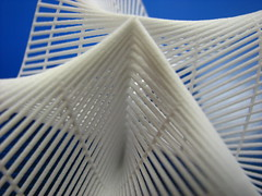 Plucker's Conoid Close-Up (fdecomite) Tags: 3d geometry surface printing math blender povray ruled shapeways