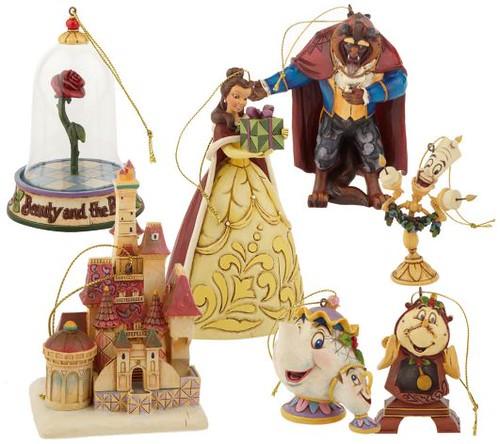 Jim Shore Disney Tradition Ornament Set Of Beauty & The
