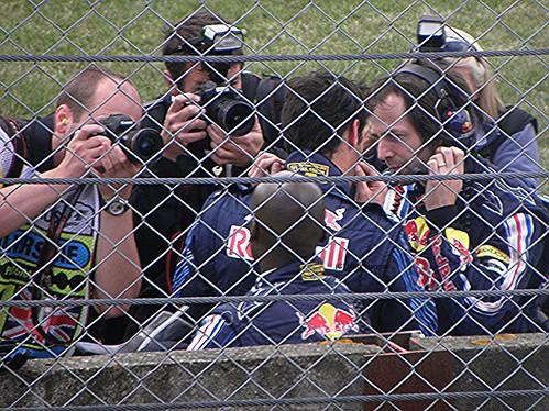 Mark Webber prepares for the 2009 British Grand Prix