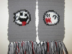 The Faces of Boo (doctormoo) Tags: scarf handmade crafts ghost crochet nintendo boo gaming gamer videogame nes