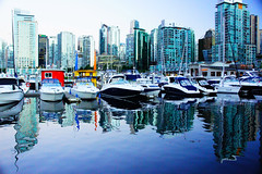Coal Harbour (Sduffy05) Tags: reflection building skyline vancouver boats bc harbour columbia structure british coal
