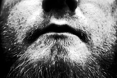 M (Isengardt) Tags: portrait bw selfportrait monochrome face canon mouth