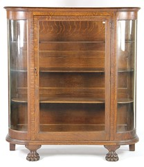 48. Antique Oak China Cabinet