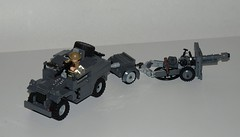 25pdr. and Morris C8 Quad Gun tractor (LegoEng) Tags: tractor gun lego wwii quad 25 ww2 pdr pounder legoeng
