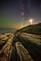 Milky Way over Pemaquid, Again (chris lazzery) Tags: longexposure lighthouse maine milkyway pemaquidpoint canonef14mmf28lii 5dmarkii