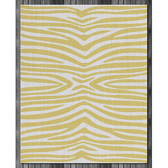 Zebra Wool Rug in Bright Yellow and Natural (on wood) (PURE Inspired Design) Tags: customfurniture organicfabric ecofriendlyfurniture woolrugs