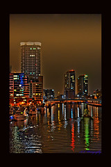 Dubai Marina (AKPhotoPro) Tags: trip travel sea people night marina asia dubai tour gulf view uae east middle