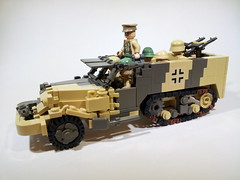 DAK Captured M3 (Project Azazel) Tags: germany google lego northafrica mg pa german ba custom m3 rommel dak halftrack googleimages afrikakorps brickarms m3halftrack northafrika thedesertfox projectazazel capturedvehicle mgtripod erminrommel