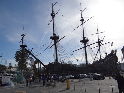 Ship from the film Pirates (Pirati) by Roman Polanski. Genoa Italy