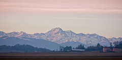 Pyrenees in the Morning (Dylan Farrow) Tags: morning winter red mountain france field sunrise website added pyrenees sentous