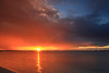 quand le soleil dit bonjour (Cani Mancebo) Tags: blue sunset red españa sun sol yellow azul jaune rouge soleil spain rojo bleu murcia amanecer amarillo rayosdesol sanpedrodelpinatar canimancebo