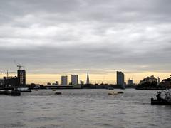 View From Greenwich Pier (silverlutra) Tags: sunset londoneye bttower riverthames londonskyline greenwichpier theshard