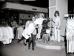 Vintage Dept. Store Display Men doing their thing