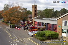 Camberley Fire Station (Ashley Middleton Photography) Tags: county events surrey fireengine firestation alp firebrigade camberley 999 emergencyservices emergencyservicesday sigma18200mmf3563dcos aerialladderplatform 999day surreyfirebrigade camberleyfirestation camberleyemergencyservicesday