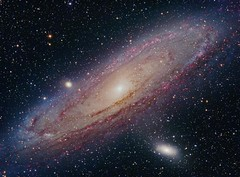 M31 Andromeda Galaxy LRGB+H-Alpha enhanced (Terry Hancock www.downunderobservatory.com) Tags: camera s