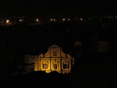 Night church facade (kalevkevad) Tags: urban italy streetart art public flickr sardinia best cagliari