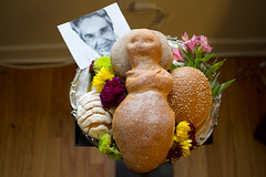 Dia de los Muerto - Day of the Dead (Jude Z) Tags: flowers food chicago love halloween de bread dead mexico los day display picture icon dia legendary mexican vegetarian singer gathering offering muertos tradition pastries homage ofrenda ranchera the honoring chavela a arragements