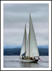 Schooner Martha - Painting (Paddrick) Tags: art sailboat port painting martha schooner townsend paddrick ditial paintograph