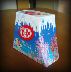 Blueberry Cheese Cake Kit Kats in a Mt Fuji souvenir box (Seb was in Japan) Tags: food japan dessert japanese fuji sweet chocolate souvenir fujisan kitkat nestle confectionery nestl mtfuji kitkats