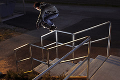 (m.tones) Tags: sunset mike d50 nikon skateboarding gap handrail rogers 50 grind hammers 28mmf28d