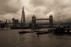 Grey Day (klythawk) Tags: london thames clouds docks towerbridge boats olympus panasonic 20mm yachts greysky omd em5 theshard klythawk