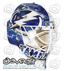 Split Vision (DaveArt MaskGallery) Tags: hockey nhl goalie mask tampabay lightning airbrush 2012 gunnarsson daveart lindbäck