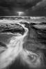 The Dynamic Duo (Luke Austin) Tags: blackandwhite storm landscape lightning westernaustralia lukeaustin