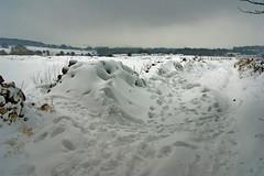 Snowdrifts II (sidibousaid60) Tags: uk winter snow buxton derbyshire footprints drifts fairfield tonguelane