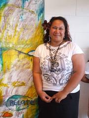 The artist: Glenda Vilisoni (Fresh Gallery Otara) Tags: niue otara southauckland pacificart freshgalleryotara glendavilisoni