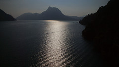 Sunset time over Lake Lugano (Osdu) Tags: travel sunset lake water switzerland swiss svizzera lugano autofocus lakelugano lagodilugano ceresio swissconfederation mygearandme
