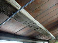 Floor Joist - Log House (Pythaglio) Tags: county ohio house point log floor interior historic cedar erie sandusky joist relocated hewn