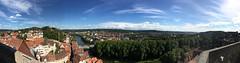 Panorama vom Kirchturm der Stiftskirche (Tobias F. Wolf) Tags: clouds neckar river schlosshohentubingen stiftskirche summer sun tubingen