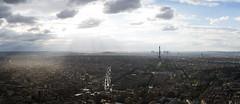 Above Paris (yann.longere) Tags: toureiffel paris tourmontparnasse eiffel montparnasse panorama landscape city cloud sunray merging